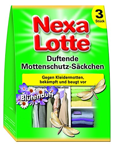 Nexa Lotte Lot de 3 sachets parfumés de Protection Anti-Mites