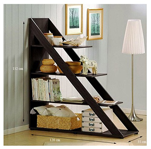 Jangir JDBS515 Book Shelf (Glossy Finish, Brown)