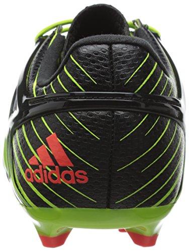 adidas Messi 15.1 J, Chaussures de Football Mixte Bébé Vert / Rouge / Noir (Seliso / Rojsol / Negbas)