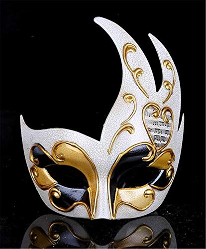LPP Halloween Maske, Fashion New Flame Form Crack Pop, Holiday Party Party Weihnachten Maskerade Show Hohl Visier Gold