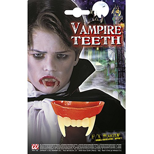 WIDMANN 4089B Vampirgebiss für Kinder, Mehrfarbig, One Size