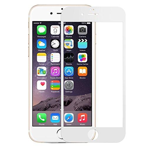 iPhone 6 plus/6S plus Schutzfolie 3D Touch Full Screen Curved Panzerglas für iPhone 6 Plus 6S Plus 9H Härte Displayschutzfolie (5.5 Zoll, Weiß)