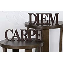 suchergebnis auf f r carpe diem schriftzug holz. Black Bedroom Furniture Sets. Home Design Ideas
