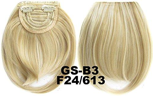 # 24 _ 613 F 100% fibre synthétique haute température Clip dans/sur cheveux avant frange frange cheveux