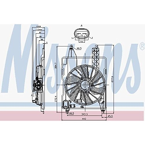 Preisvergleich Produktbild Nissens 85706Lüfter Kühlung des Motors