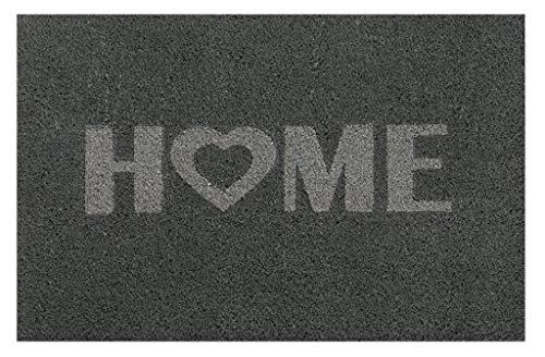 andiamo, Fußmatte aus Kokos mit Gummirücken, Motiv Stern, robust, Größe:40 x 60 cm, Farbe:Grau