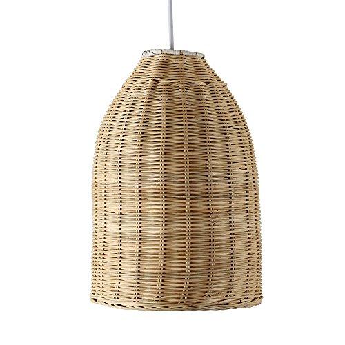 MiniSun - Moderna pantalla para lámpara de techo \'Chianti\', de cesta de mimbre natural