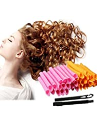 Lockenstäbe Curler Roller, Anewone 40 Stück Haar-Lockenwickler lange Twist Spiral Circle Curlformers Magic Rollers Styling Tool