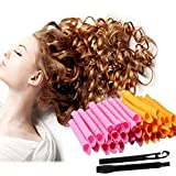 50CM Lockenwickler Rollen Lockenstäbe Curler Roller, 40 Stück Anewone Haar-Hair Styling Werkzeuge DIY Magic Twist Spiral Circle Curlformers Rollers Hair Maker Styling Tool