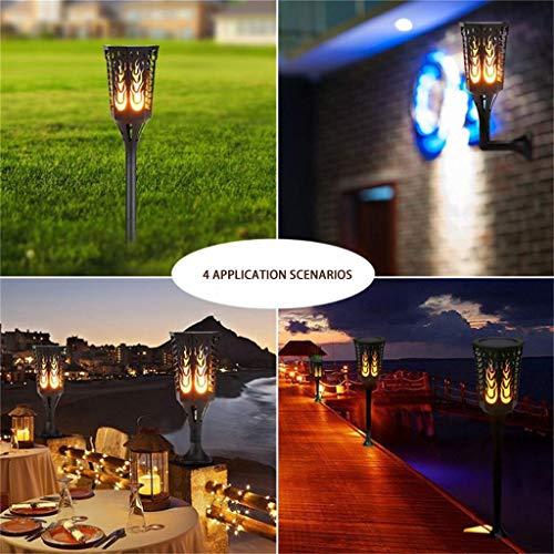 Solarlampen für Außen 96 LED Solar Gartenleuchte Lichtsensor Garten Solar Fackeln Solarlampen Dekoration Licht für Terrasse Rasen Garten Hinterhöfe Wege ()