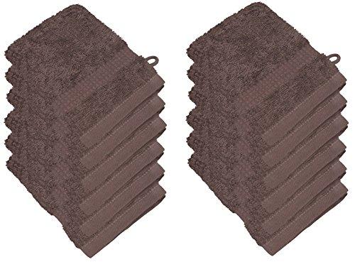starlabels Serviettes Disponible en 15 couleurs et 5 dimensions doux saugstark 500 g/m², 100% coton, Öko Tex, Coton, noyer, 15 cm x 21 cm