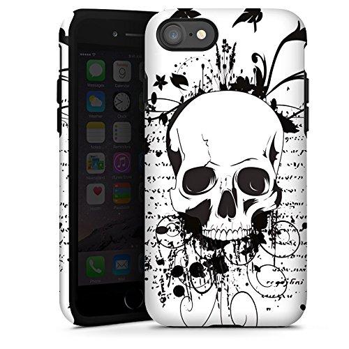 Apple iPhone X Silikon Hülle Case Schutzhülle Schädel Ornamente Rocker Tough Case glänzend