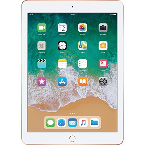 Apple iPad (9.7 inch Multi-Touch) Tablet PC 128GB A10 Chip WiFi Bluetooth Camera Retina Display iOS 11 Touch-ID (Gold)