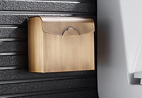 BOBE SHOP- Antique tout le papier de toilette en cuivre papier toilette toilette serviette en papier de toilette quatre places vitrine de papier hygiénique