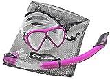 IceFox Tauchset BONETE DELUXE 2-Set (Tauchmaske, Schnorchel & Netzbeutel) -