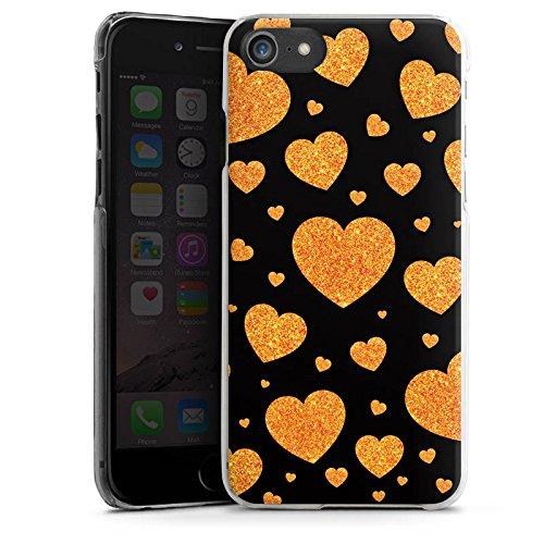 Apple iPhone X Silikon Hülle Case Schutzhülle Liebe Love Herz Muster Hard Case transparent