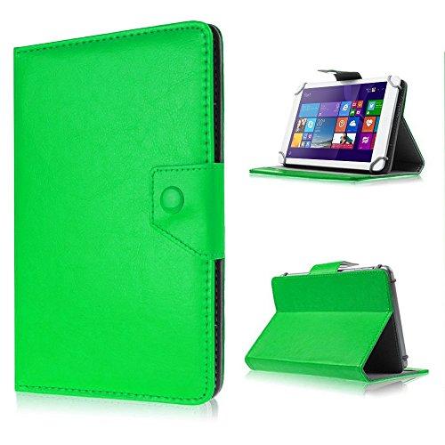 UC-Express Tasche für Odys Lux 10 Hülle Case Schutz Tablet Cover Schutzhülle Universal Bag, Farben:Grün