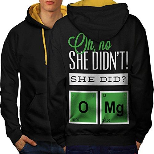 Oh mein Gott Chemie Komisch Geek Komisch Sich unterhalten Men M Kontrast Kapuzenpullover Zurück | Wellcoda (Oh Diagramm)