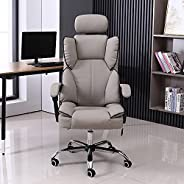 كرسي قيمنق شاربدو، كرسي كمبيوتر بتصميم مريح عالي الظهر مع تعديل للارتفاع، مسند رأس، كرسي داعم للفقرات القطنية،