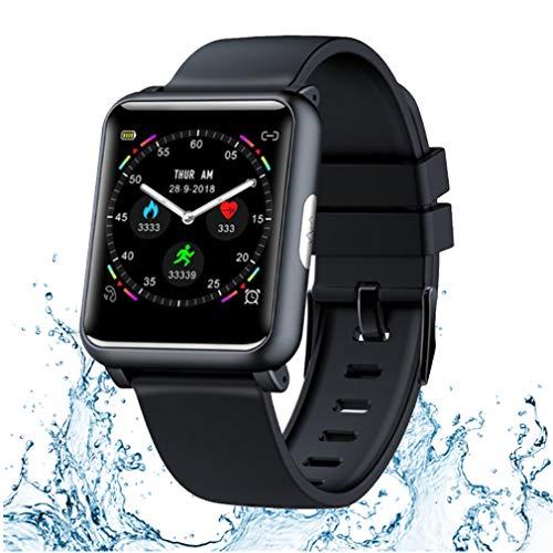 JIQHB Sport Tracker Wasserdicht Smartwatch 1,3 Zoll TFT Farbbildschirm ECG PPG HR überwachen Blutdruck Sportmodi Ladegerät Dock Smartwatch Männer Frauen,Blue - Dock Blutdruck