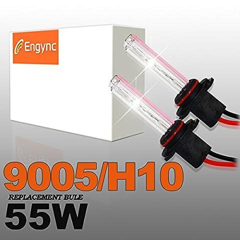 Engync® 2x H10 (9145) Lampe Ampoule Xénon HID de Remplacement 55W 12V Couleur Violet pour Voiture