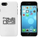 Blanc 'Serpent Angulaire' étui / housse pour iPhone 7 (MC00062382)