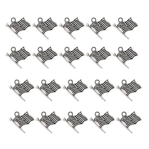 P Prettyia 20 Stücke Flagge Form Anhänger Schmuckherstellung anhänger DIY Zubehör für Ohrringe und Andere Mode-Accessoires