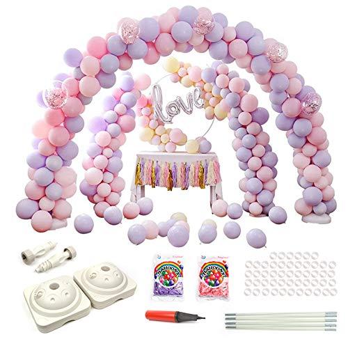 gsfeier Aktivitäten Folienballon Bogen Tür Dekorationen für Hochzeit Party und Geburtstag Graduierung Vorschlag Weihnachten Brautgeschenke Baby-Duschen Valentinstag (Rosa & lila) ()