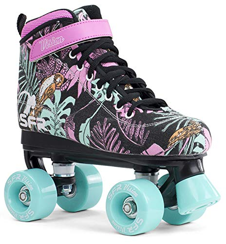 SFR Vision canvas rollerskates, disco rollers, children's,, used for sale  Delivered anywhere in UK