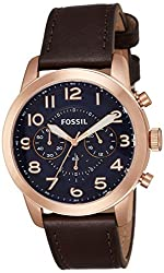 Fossil Pilot 54 Chronograph Blue Dial Mens Watch-FS5204I