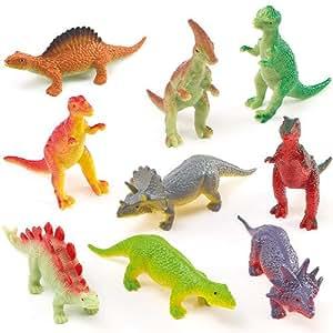Lot de 12 dinosaures souples