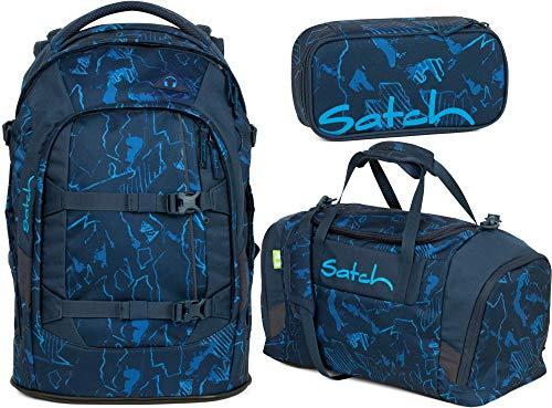 Satch Pack Blue Compass 3er Set Schulrucksack, Sporttasche & Schlamperbox