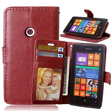 HL CASES And COVERS Schöne Fälle, Abdeckungen, Luxus-PU-Leder Karteninhaber Geldbörse Stehen Klappdeckel mit Fotorahmen Fall für Nokia Lumia 520 (Farbe : Braun, Kompatible Modellen : Lumia 830) - Geldbörse Fall Lumia 830 Nokia