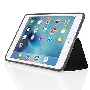 Incipio-clarion folio coque de protection pour apple iPad mini 4–coque arrière transparente pratique  fonction support et mise en veille/réveil fonction -iPD - 281–bLK
