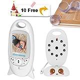 Navtour Wireless Digital Video Baby Monitor 2.0'LCD-Bildschirm Babyphone mit Kamera Überwachung Talk-Back Zwei Schlafmonitor Nachtsicht Temperaturanzeige