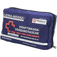 Leina Werke 11057 KFZ-Verbandtasche Compact mit Warnweste Ecoline ohne Klett, Blau/Weiß/Rot preisvergleich bei billige-tabletten.eu