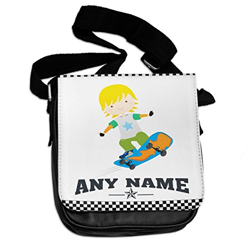 9b6f48c76d31 Personalised Cool Skateboarding Kids Name Shoulder Bag work school home  birthday Gift Christmas son daughter niece nephew grandaughter grandson  boys ...