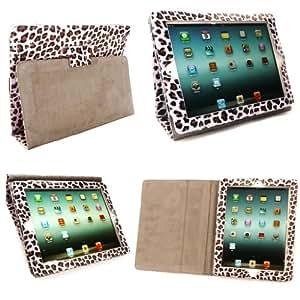 Léopard Étui Housse folio en cuir avec support pour iPad Mini