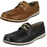 Clarks Tan Leather 'Fallston' Boat Shoes