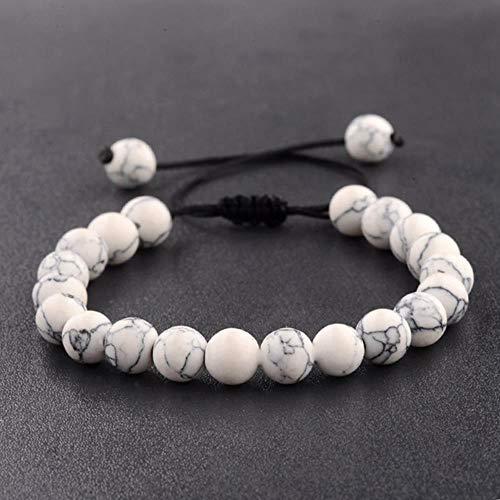 WL Armband Seil Kette Perlen Frauen Türkisen Verkrustete & Weiß & Rot Stein Perlen Armbänder Für Männer,D -