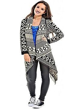 Zara Fashion-Le Donne Aztec Tribal diamante nappa cascata Cardigan