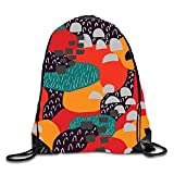 gthytjhv Astronaut Kitty Sackpack Drawstring Backpack Waterproof Gymsack Daypack for Men Women Abstract Colors4 Lightweight Unique 16.9x14.2
