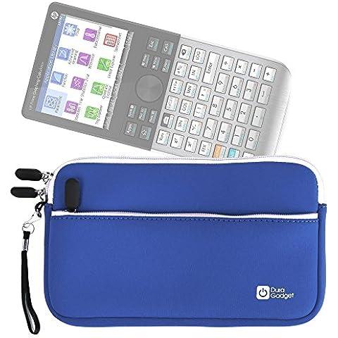 DURAGADGET Funda De Neopreno Azul Para Calculadora gráfica Texas Instruments | Casio GRAPH 35 + E | HP HP50G - Con Bolsillo Exterior + Correa De
