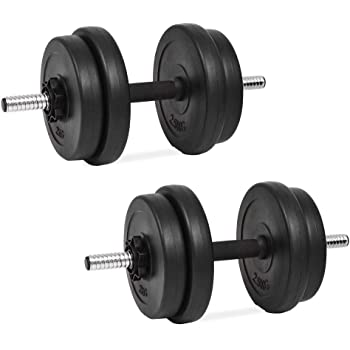 Festnight Set de Mancuerna 14 Piezas 20 kg Entrenar Pecho,Bíceps,Brazos,Tríceps