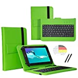 Deutsche Qwertz Tastatur für Archos 101c Copper Tablet PC Etui Schutz Hülle mit Touch Pen - Tastatur 10.1 Zoll Grün