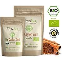 Bio Ceylon Zimt gemahlen (500g) mit wenig Cumarin in premium Qualität | 100% ECHTES Bio Ceylon Zimt Pulver