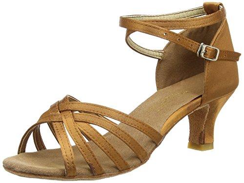 Amurleopard Damen Latein Schuhe 5cm Absatz Dunkelbraun 39(Herstellergröße:40)
