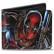 BUCKLE-DOWN Marvel Universo Wallet Deadpool acción Pose close-up + muertos accesorios