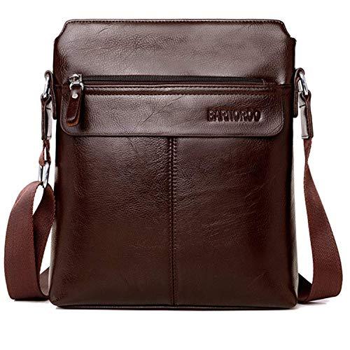 Mochatopia borsello uomo pelle, borsa a tracolla in pelle da uomo, ufficio borsetta messenger borsa da viaggio cross body per ipad tablet 9.7 inch [marrone scuro]