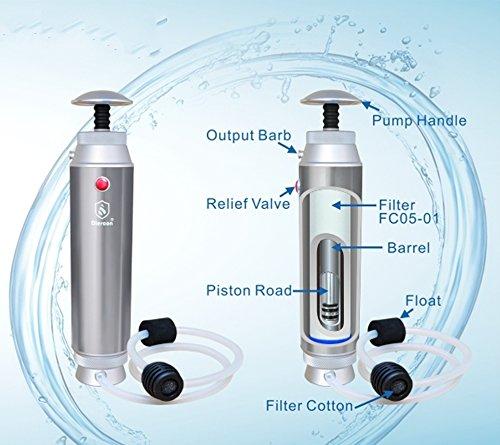 GEERTOP Persönlicher Tragbares Outdoor Wasserfilter / Taschen-Wasserfilter / Wasseraufbereitungssystem Wasseraufbereitung - 2